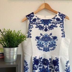 Dresses & Skirts - Blue & White Dress